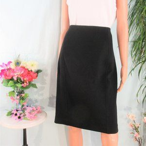 Ann Taylor Basic Black Stretch Seamed A-line Skirt